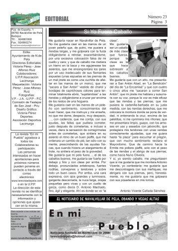 Interiores Revista numero 23 - Navalvillar de Pela