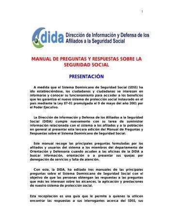 Manual De Preguntas Y Respuestas - Superintendencia de Salud y ...