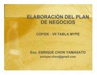 ELABORACIÓN DEL PLAN DE NEGOCIOS - Cofide