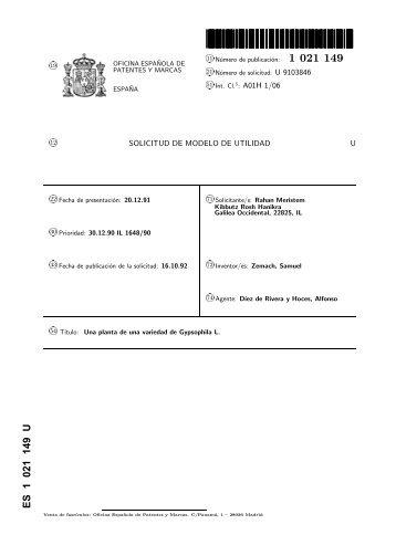 Gypsophila magazines - Oficina patentes y marcas ...