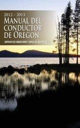 Manual del conductor de Oregon - Oregon Department of ...