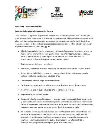 Intervención docente - Secretaría de Educación Coahuila