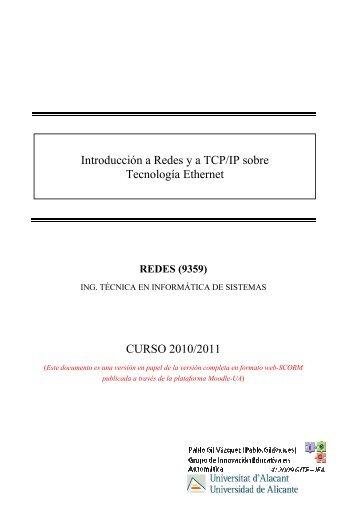 CURSO 2010/2011 Introducción a Redes ya TCP/IP sobre - RUA ...