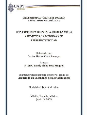 una propuesta didáctica sobre la media aritmética, la mediana y su ...
