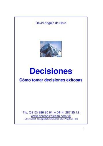 Cómo tomar decisiones eficaces - Super Aprendizaje Alfa