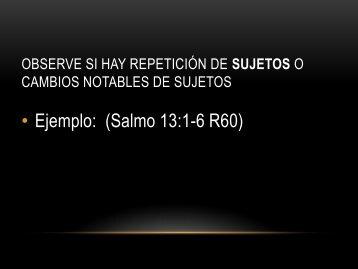 Ejercicios del Contexto Gramatical SALMO 13 - Carolina de Chamorro