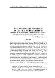 nuevas formas de moralidad en los y las jóvenes chilenos - SciELO