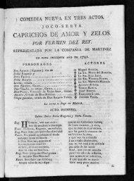 CAPRICHOS DE AMOR Y ZELOS. POR FERMIN DEL REr.