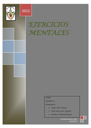 EJERCICIOS MENTALES