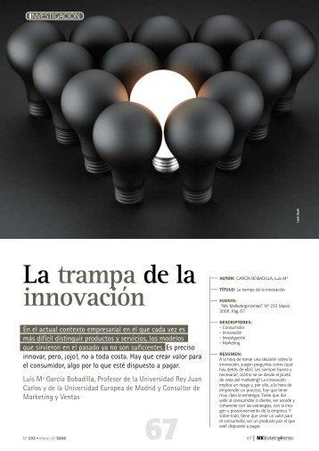 La trampa de la innovación por Luis María García Bobadilla ... - Gref