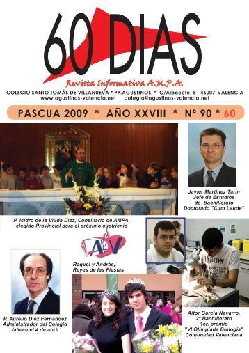 PASCUA 2009 * AÑO XXVIII * Nº 90 * 60 - Agustinos Valencia