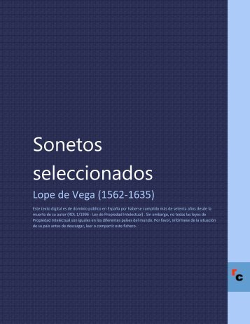 Sonetos seleccionados - Descarga Ebooks
