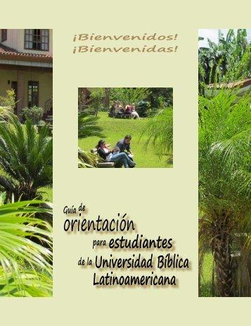 Guía Orientación Estudiantes - Universidad Bíblica Latinoamericana