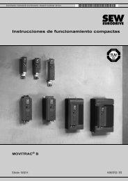 Instrucciones de funcionamiento compactas MOVITRAC® B