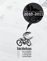 RepoRte de actividades - Por mi ciudad en bicicleta