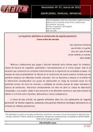 Newsletter Nº 37, marzo de 2012 ADOPCIONES, FAMILIAS ...
