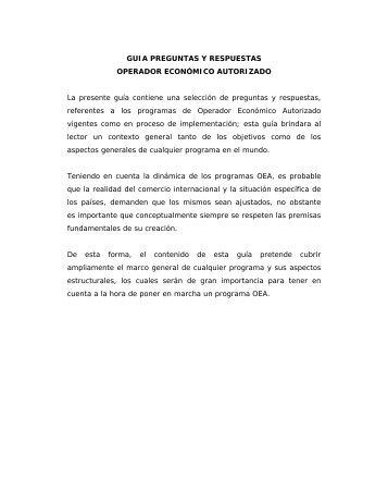 GUIA PREGUNTAS Y RESPUESTAS OPERADOR ... - DGA