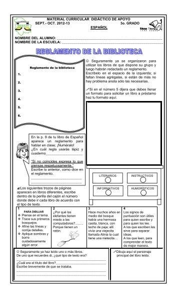 material curricular bloque 1-3° grado 2012-2013 seech