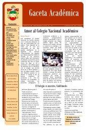 Amor al Colegio Nacional Académico - Institución Educativa ...