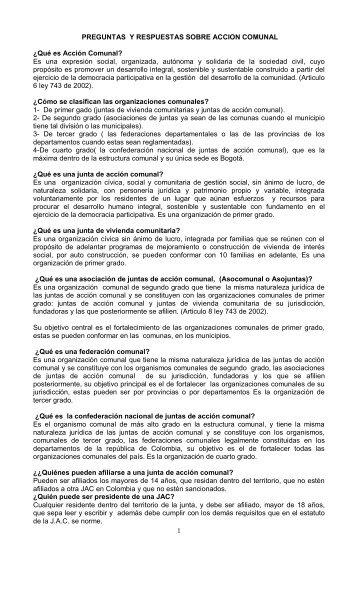Preguntas y Respuestas - Asojuntas Girardot