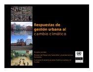 Respuestas de gestión urbana al cambio climático - Cepal