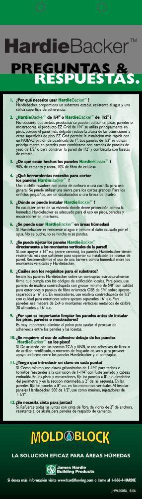 HardieBacker ® Preguntas y Respuestas - James Hardie Español