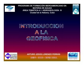 INTRODUCCION A LA GEOFISICA.pdf - Programa de Naciones ...