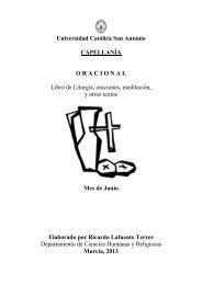 junio oracional13.pdf - Universidad Católica San Antonio de Murcia
