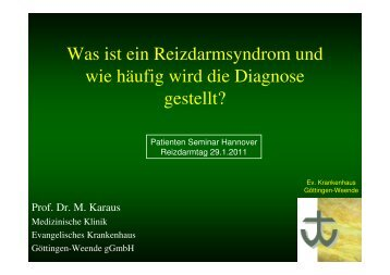 Was ist ein Reizdarmsyndrom und wie häufig wird die Diagnose ...
