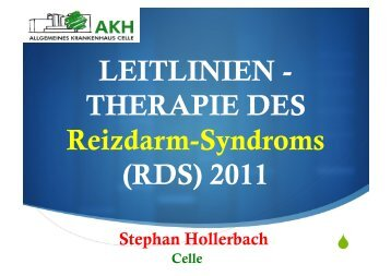 THERAPIE DES Reizdarm-Syndroms 2011 (.pdf)