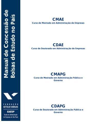 Manual de Concessão de Bolsas de Estudo no País - FGV-EAESP ...