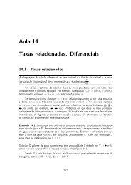 Aula 14 Taxas relacionadas. Diferenciais