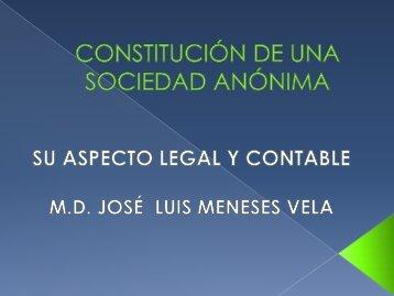 Constitución de una Sociedad Anónima