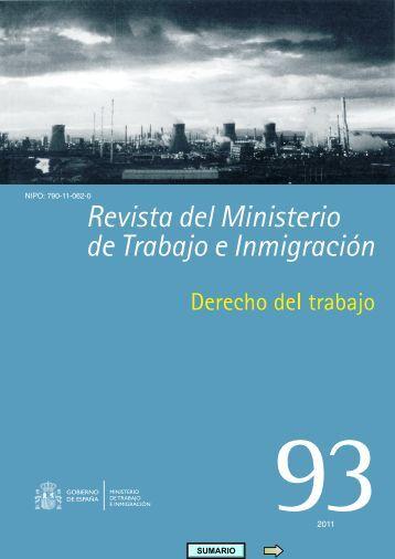 Número 93: Derecho del Trabajo - Ministerio de Empleo y ...