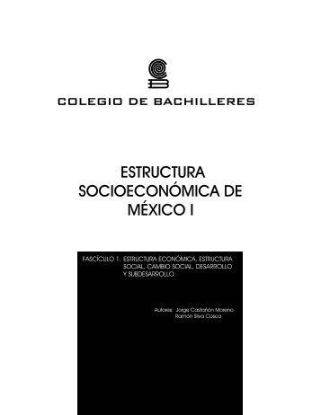 ESTRUCTURA SOCIOECONÓMICA DE MÉXICO I - Conevyt