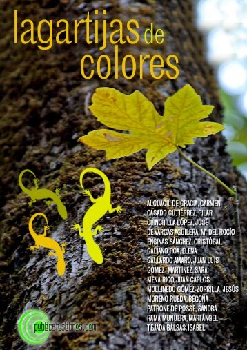 Largartijas de colores - Publicatuslibros.com