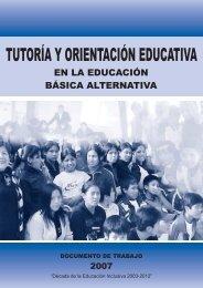 Tutoría en Educación Básica Alternativa - Dirección de Tutoría y ...