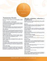 Tratamientos Faciales Masajes relajantes, reductivos ... - vitalitycr.com