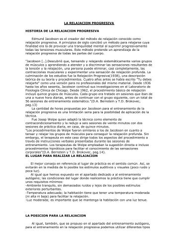 tecnica de relajacion progresiva de jacobson pdf