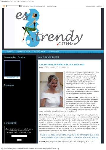esTRENDY.com: Los secretos de belleza de una novia ... - Dr. Junco
