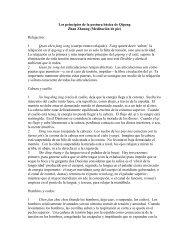 Los principios de la postura básica de Qigong
