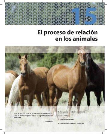 15 El proceso de relación en los animales - McGraw-Hill