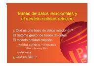 Bases de datos relacionales y el modelo entidad-relación - IUA
