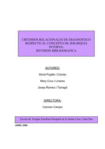 Criterios Relacionales de Diagnostico respecto al concepto