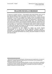 RELACIÓN ESCUELA-COMUNIDAD - FEDIAP