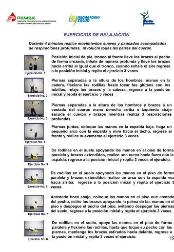 EJERCICIOS DE RELAJACIÓN - PEMEX