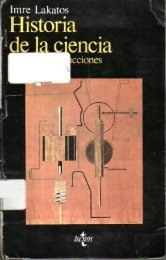 Lakatos I. Historia de la ciencia y sus reconstrucciones racionales