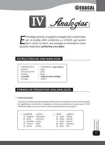 Analogías - EGACAL