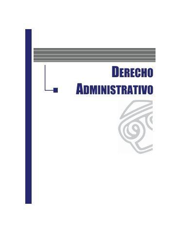 DERECHO ADMINISTRATIVO - EGACAL