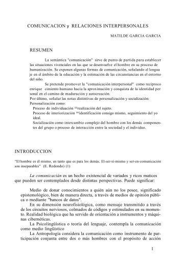 COMUNICACION y RELACIONES INTERPERSONALES RESUMEN ...